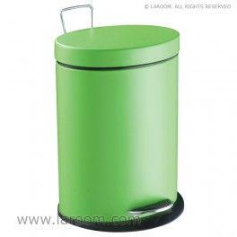 """Laroom - Papelera elíptica """"step"""" verde 5L. (cubeta extraible) - Laroom diseña las papeleras de Baño más bonitas del mundo - www.laroom.com"""