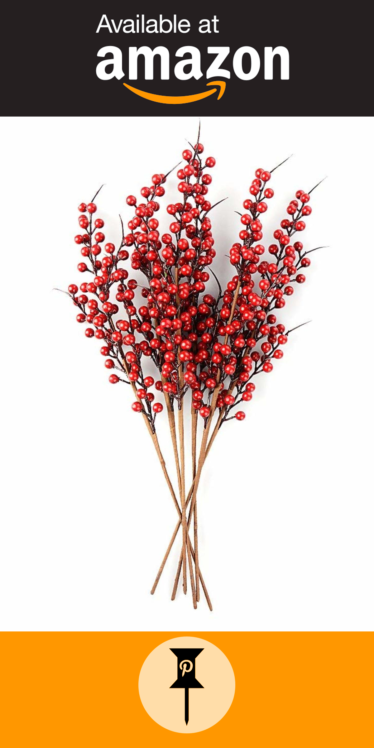 Plante De Noel Boule Rouge jycra baies rouges artificiels, lot de 10 de noël baies