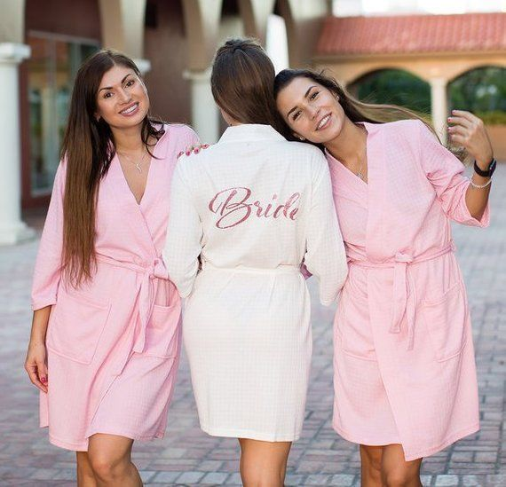 a864b80ef3 Monogrammed Robe Personalized Robes Wedding Robes Bridesmaid Robes Bridal  Robe Waffle Weave Robes Wh Cotton Bridesmaid