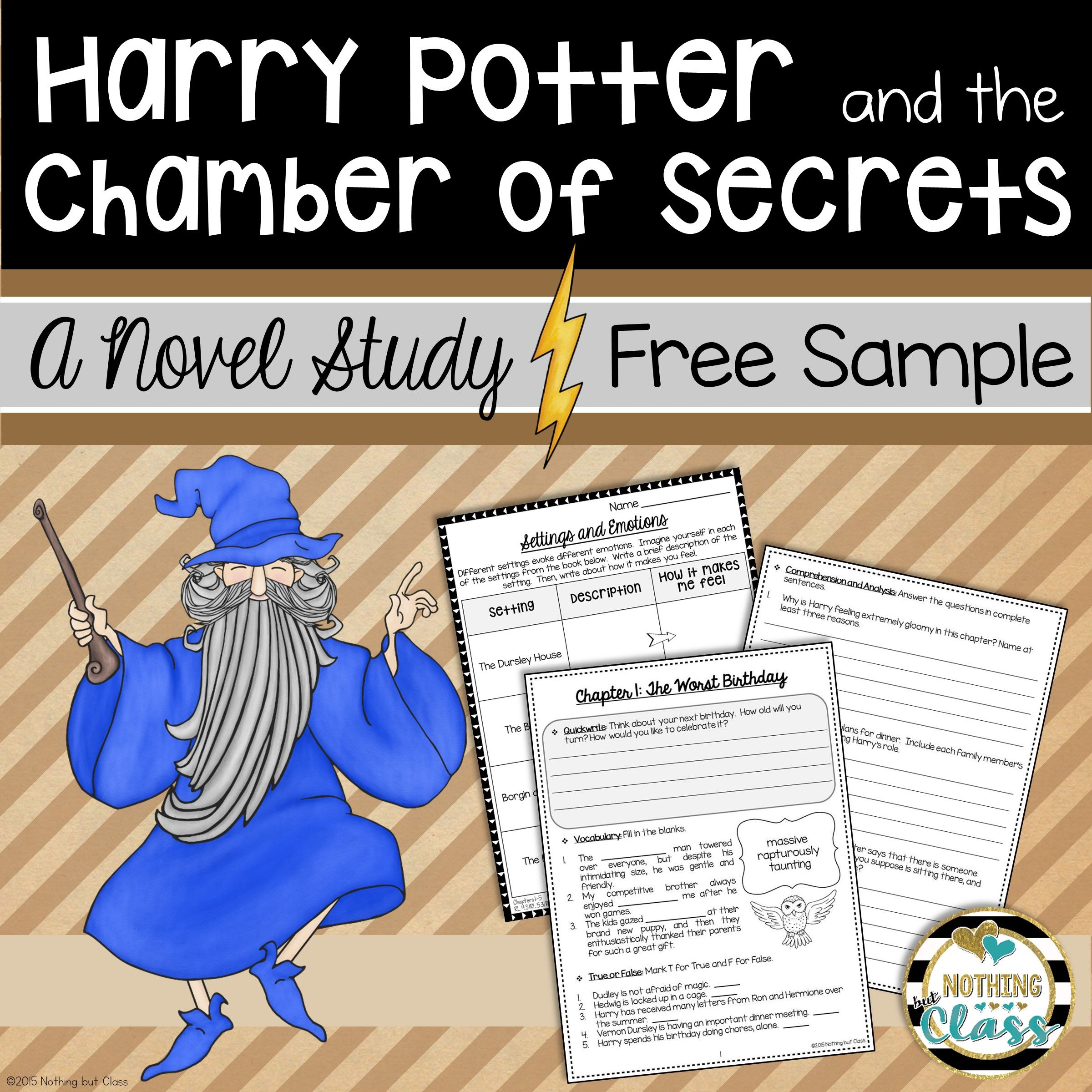 Harry Potter And The Chamber Of Secrets Novel Study Unit