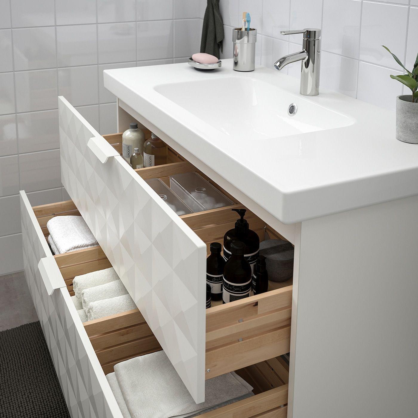Ikea Godmorgon Odensvik Resjon White Dalskar Faucet Sink Cabinet With 2 Drawers In 2020 Diy Bathroom Design Diy Bathroom Inspiration Diy Bathroom