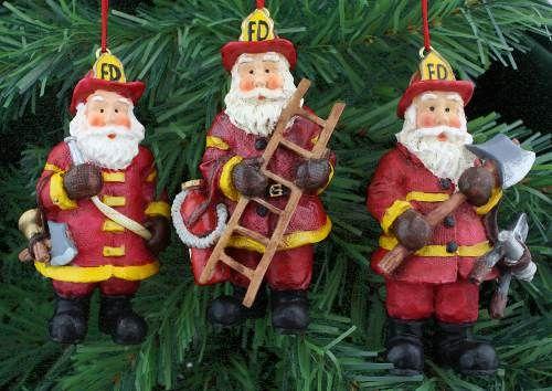 Firefighter Trio Ornament Set