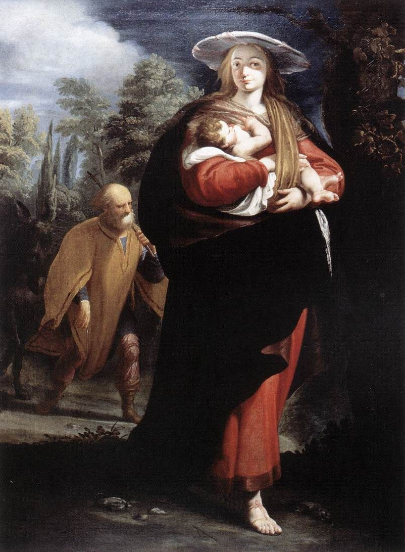 Arte Boutique Ibi Ansaldo Giovanni Andrea The Flight Into Egypt 1620s Galleria