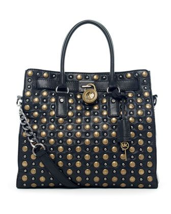 michael michael kors hamilton studded tote oh this is so going to rh pinterest es