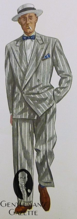 Striped double breasted suit
