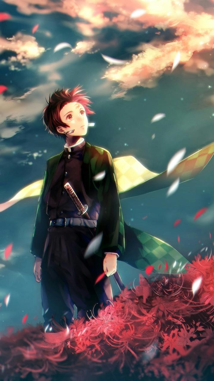 Anime Demon Slayer Kimetsu No Yaiba Tanjirou Kamado 720x1280 Mobile Wallpaper Anime Demon Anime Slayer Anime