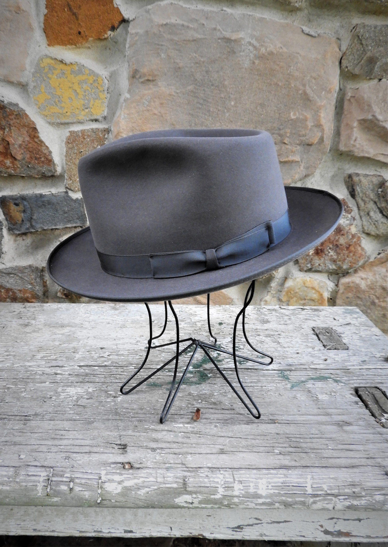 Stylish Vtg Mens Smoky Grey Alexander Frank Sinatra 1950 S Etsy 1950s Mens Hats Vintage Smoky Grey