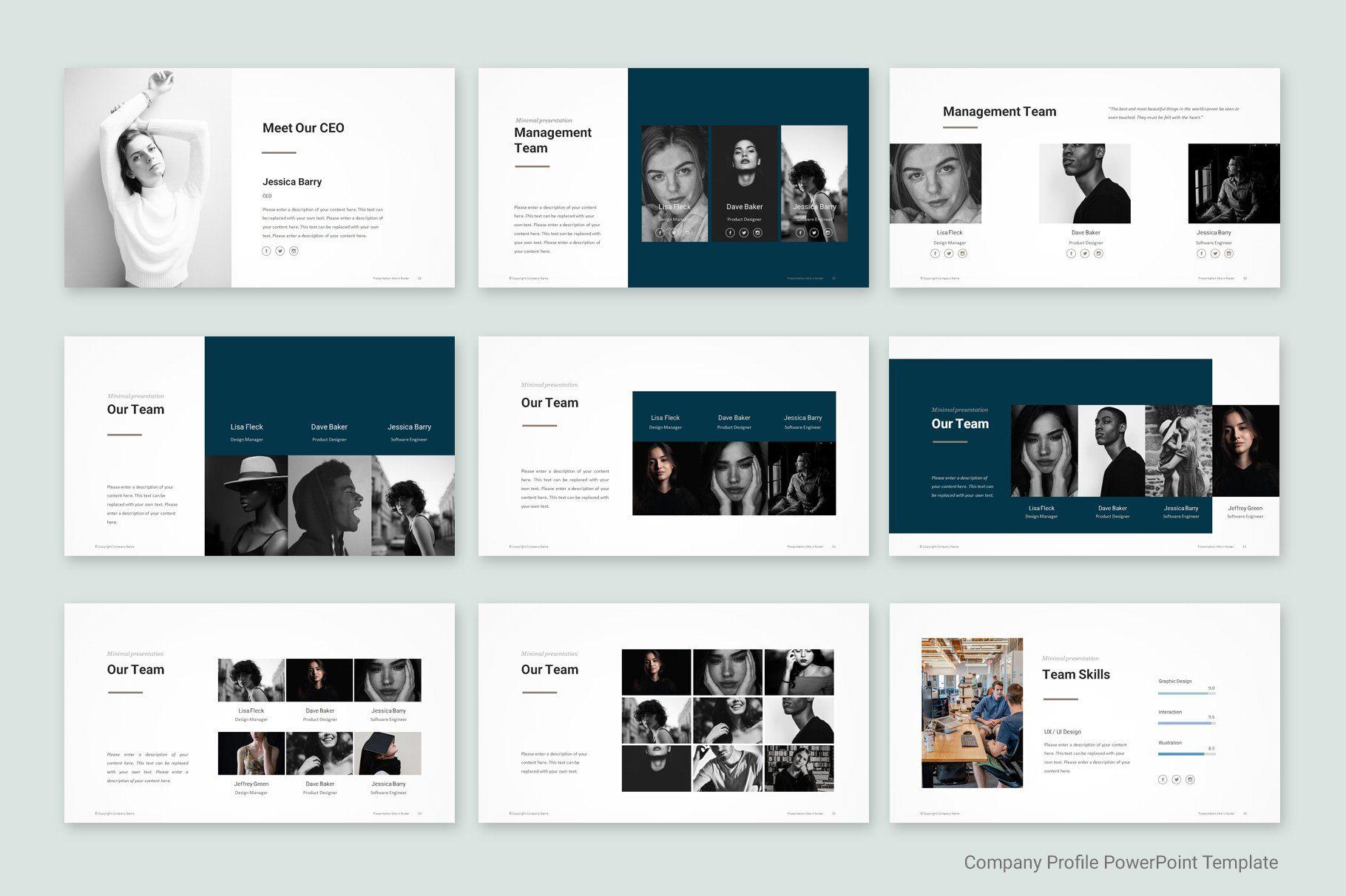 Company Profile Template Company Profile Template Company Profile Professional Powerpoint Templates
