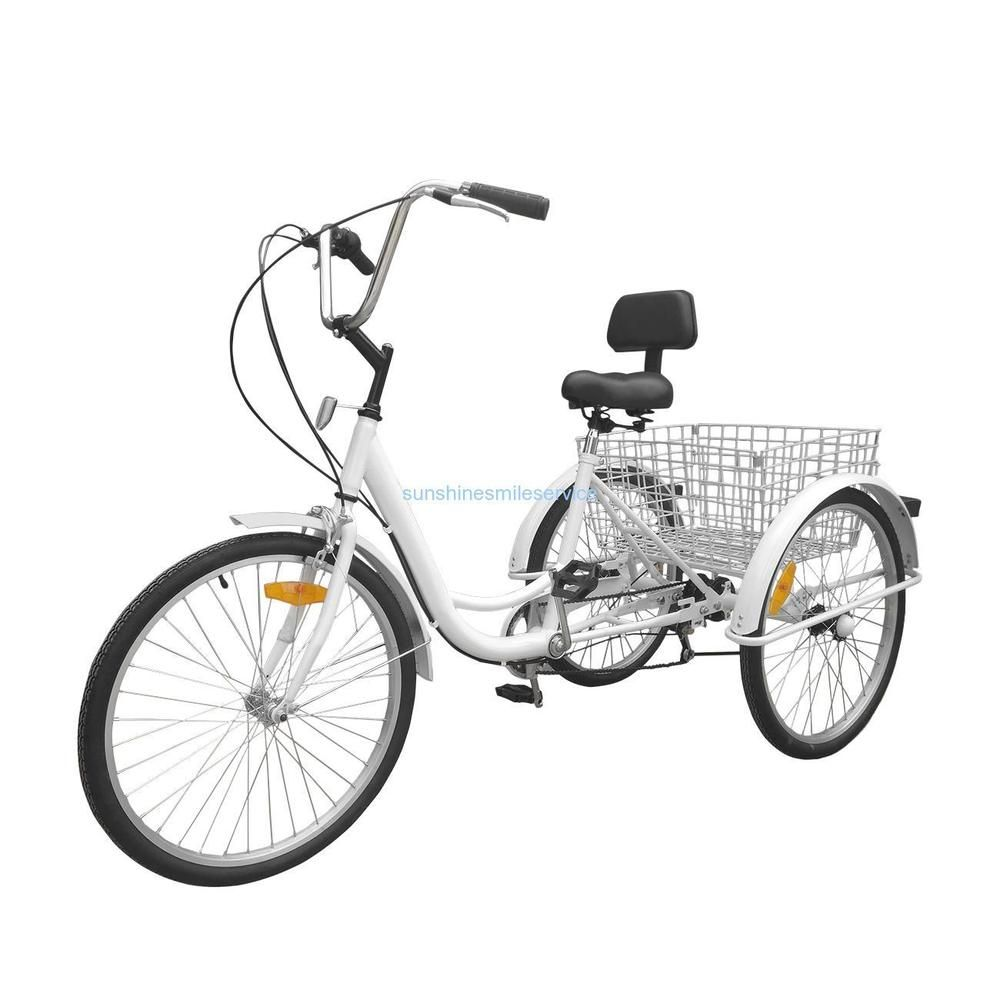 Details About Unisex Adult 24 3 Wheel 7 Speed Tricycle Trike