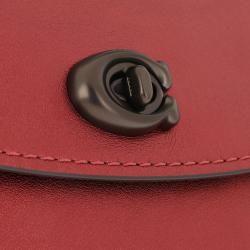 Coach Metallic Leather Parker 18 Shoulder Bag Metallic Clay in rot Umhängetasche für Damen CoachCoac #metallicleather