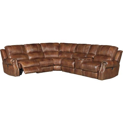 Chestnut Brown 6 Piece Power Reclining Sectional Sofa