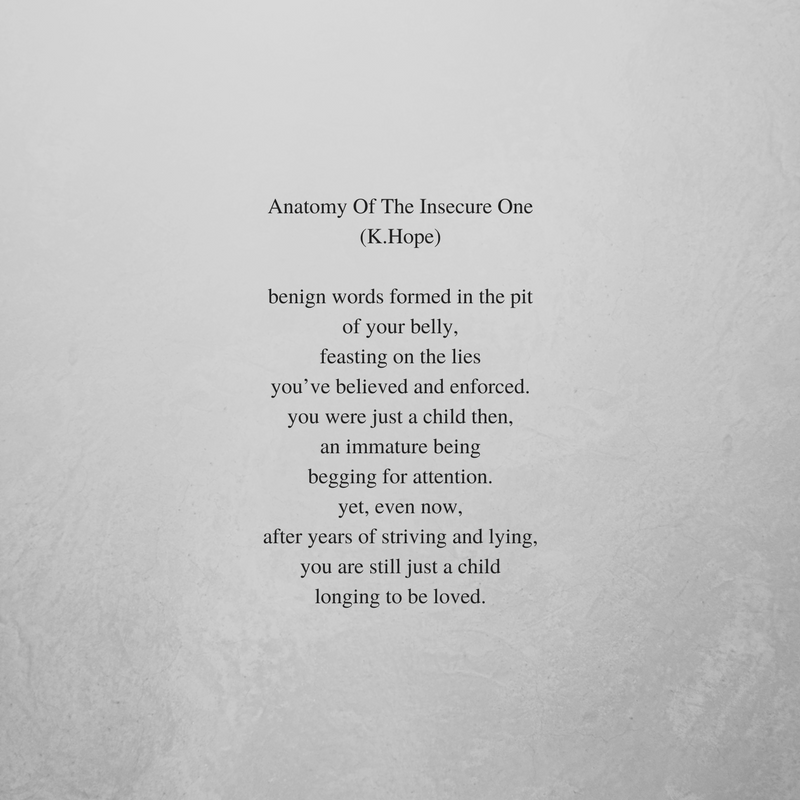 Anatomy Of The Insecure One | Poem