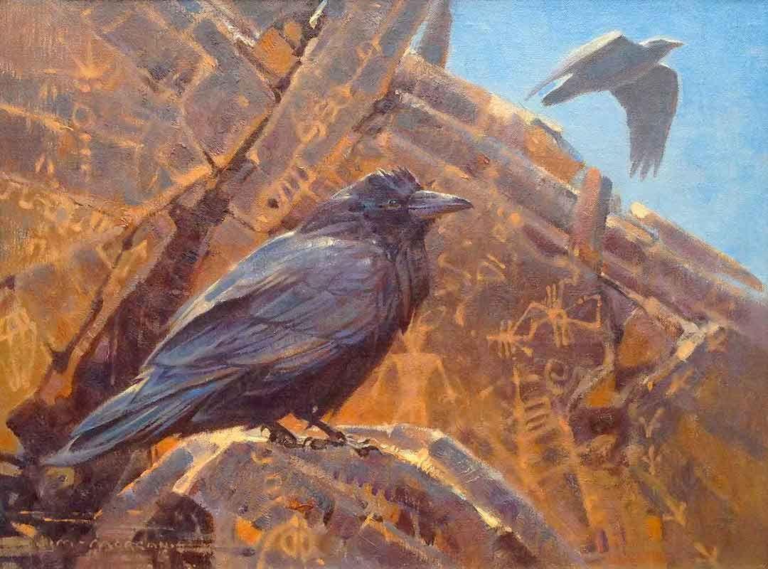 """Sandstone Spirits"" by Jim Morgan 12"" high X 16"" wide, oil on linen - Wood River Fine Arts"