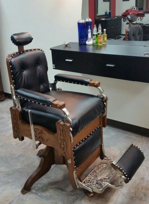 Koken wooden barber chair restored by Eric at GRAND CUTS Texas Spring  Stuebner Barbershop Ideas, - Koken Wooden Barber Chair Restored By Eric At GRAND CUTS Texas