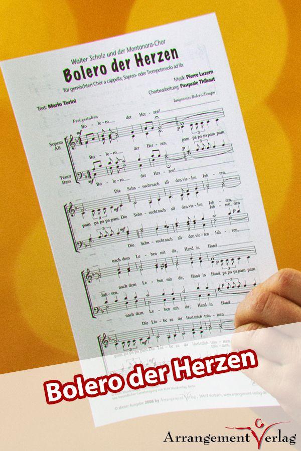 Bolero der Herzen für gemischten Chor ✓ Auch mit Trompetenstimme (1 EUR) lief… – Arrangement-Verlag