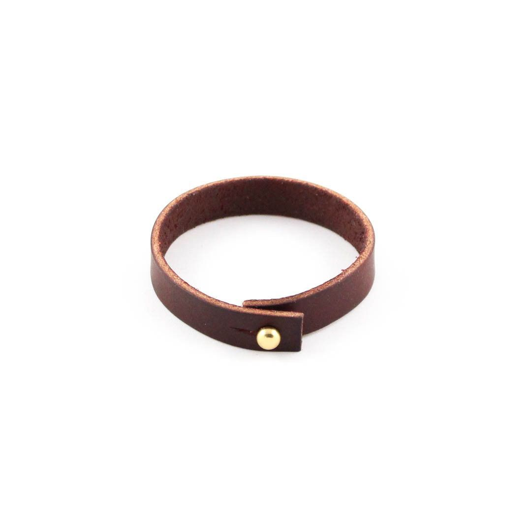 DARK BROWN LEATHER BRACELET BY SOLID MANUFACTURING CO.