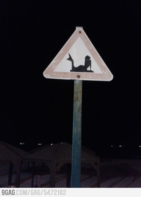 Saw this sign in the beach this evening