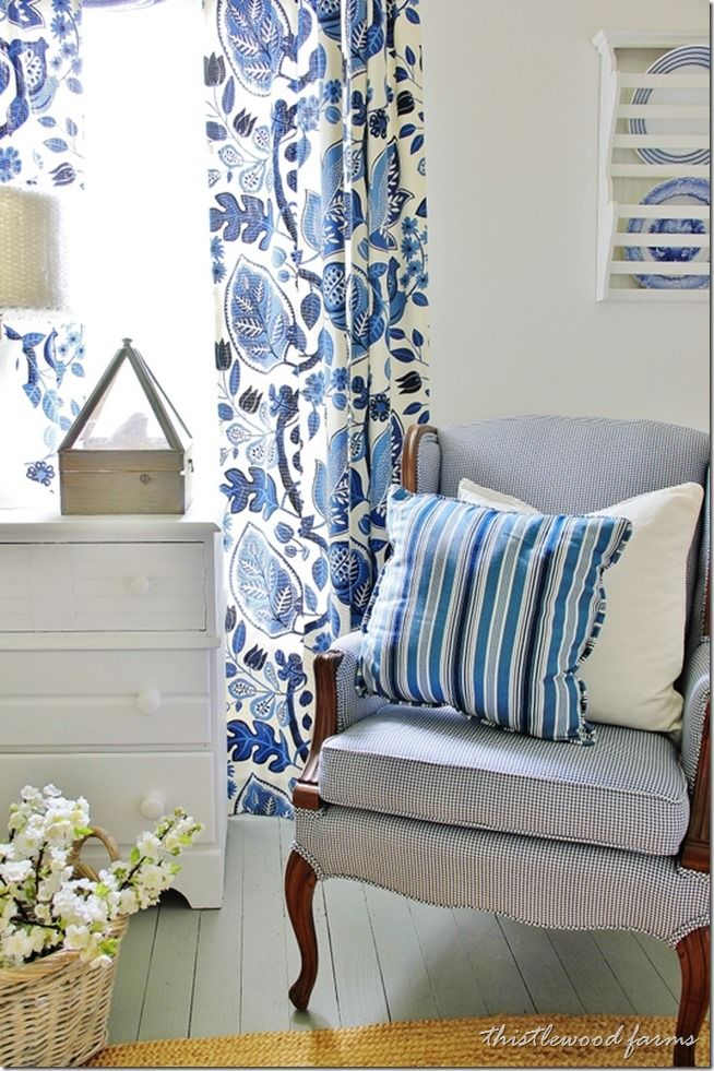 Blue and Yellow Farmhouse Bedroom Blue and
