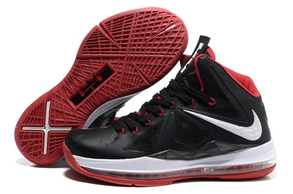 timeless design 11b57 ed22c Nike Air Max LeBron James X Black White Red Basketball shoes