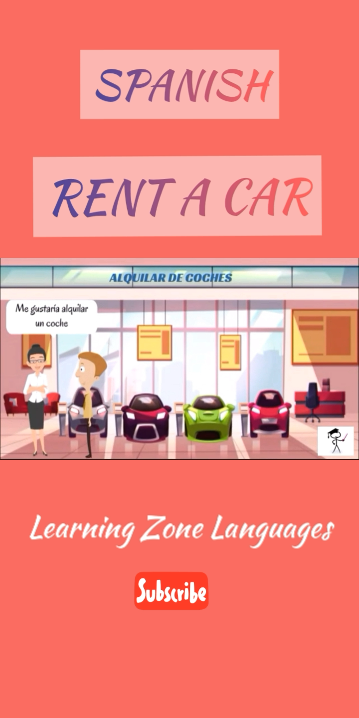 How to rent a car in spanish. Full video on Youtube #spanish  #rentacar  #learningzonelanguages #learning