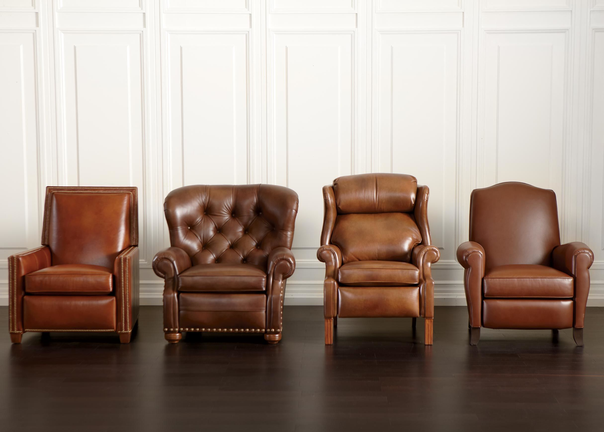 Randall Leather Recliner Ethan Allen Chairs For