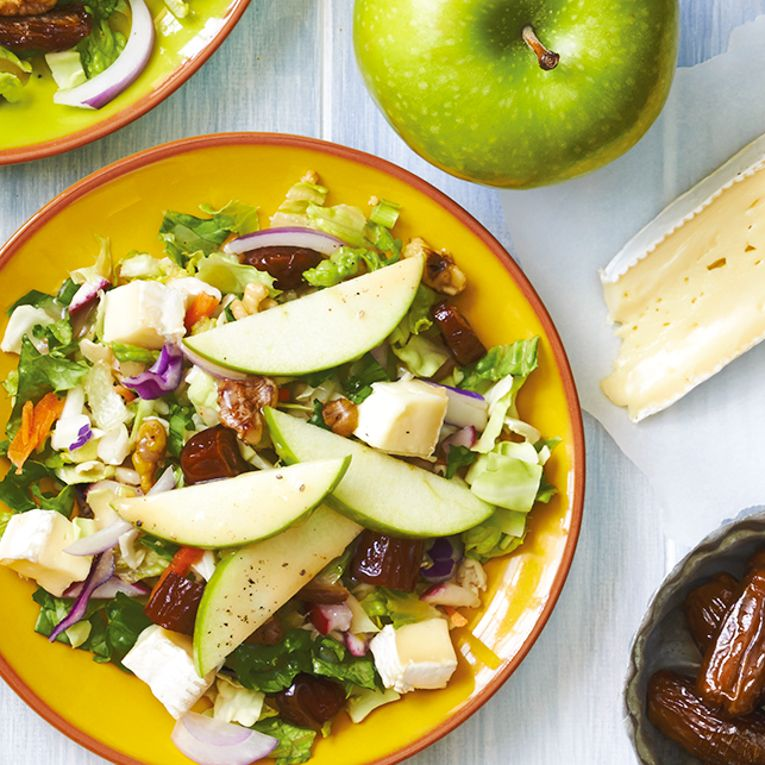 Apple and Date Salad with Brie
