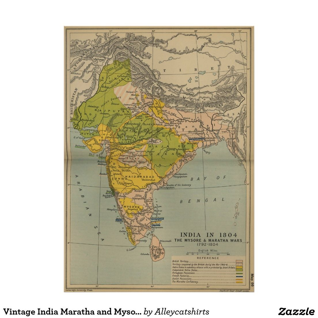 Vintage india maratha and mysore war map 1804 poster vintage map vintage india maratha and mysore war map 1804 poster gumiabroncs Choice Image