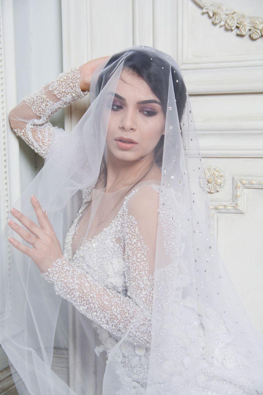 Wedding veils Bridal hair veil, Bridal headpieces, Bling