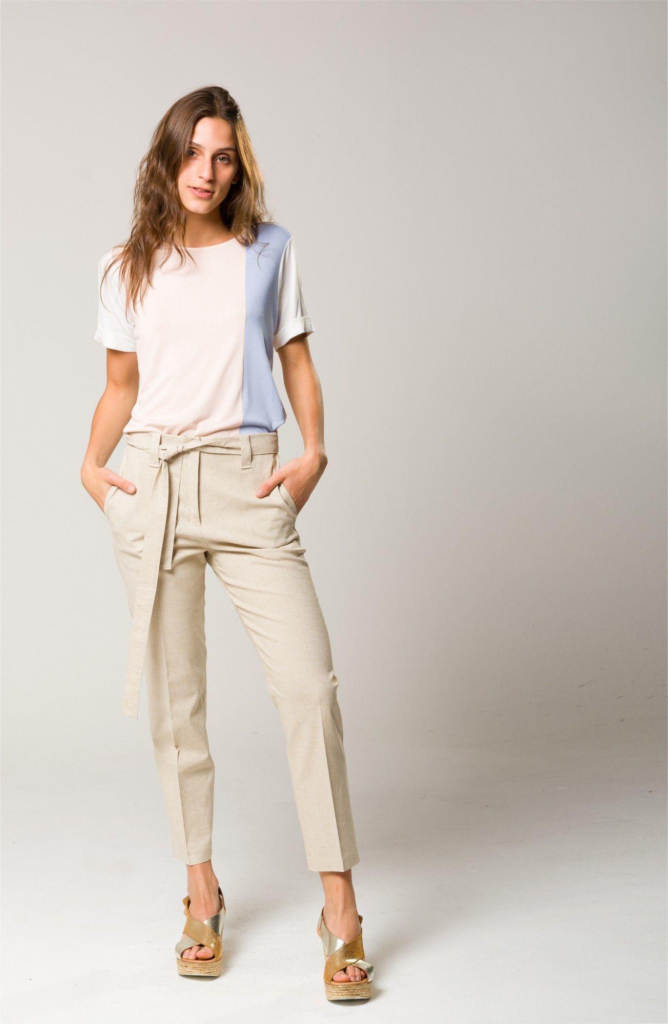 Pantalon Lino Remera Crepe De Punto Ropa Ropa De Moda Pantalon Lino Mujer