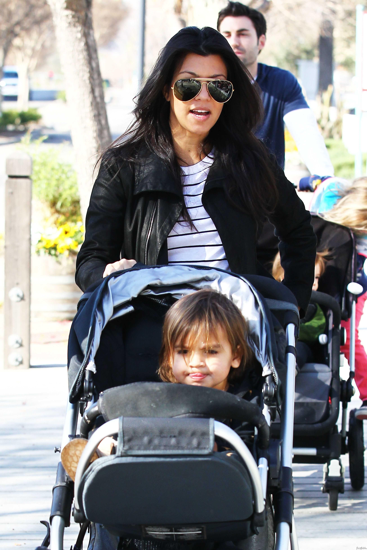 Kourtney Kardashian pushes son Mason in her UppaBaby Vista stroller