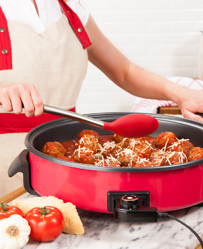 Ring the Dinner Bell with This Electric Skillet Meatballs ...