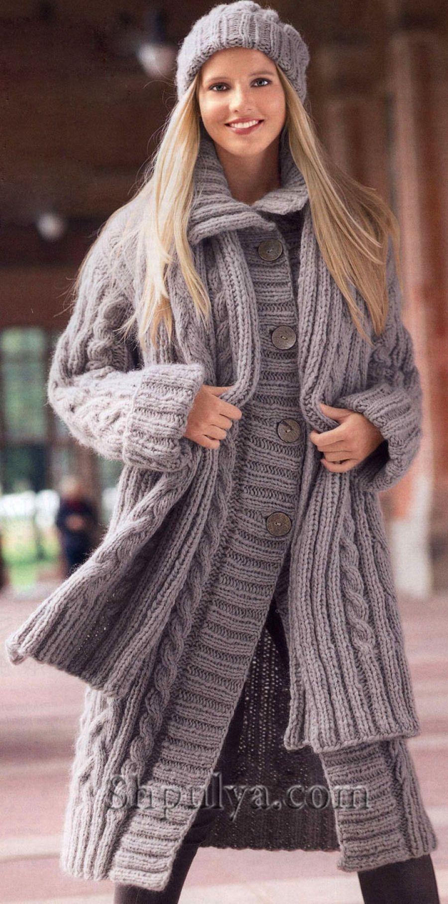 пальто для ребенка спицами схемы и описание картинки