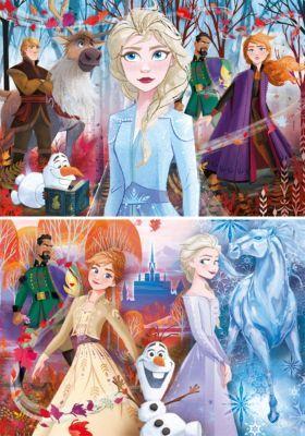 Puzzle 2 x 20 Teile Supercolor Die Eiskönigin 2