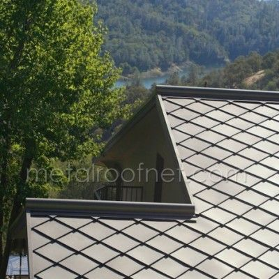 Finished Steel Diamond Shingles By Metal Roof Network Coated Metals Group Best Solar Panels Metal Roof Solar Panels