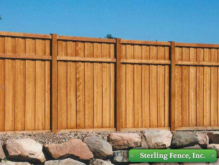 Wood Privacy Fence Styles Fence Design Brick Fence