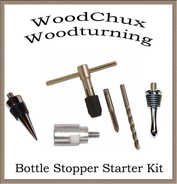 Bottle Stopper Starter Kit 10 Cone 10 Teardrop Triple Chrome Etsy In 2020 Bottle Stoppers Woodworking For Dummies Pen Making Supplies