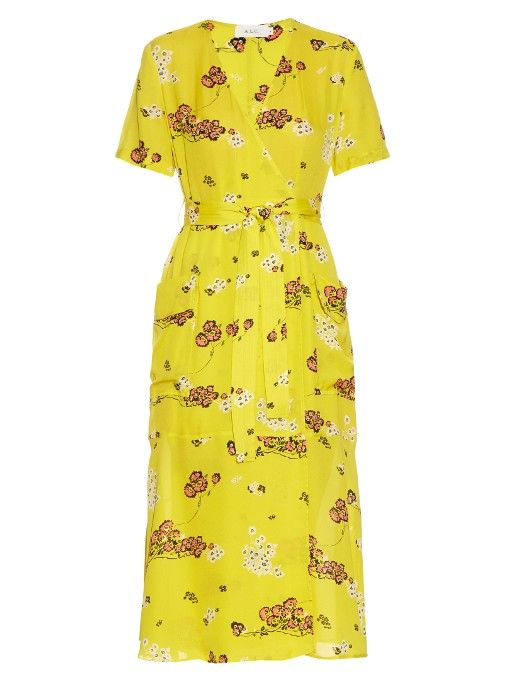 A.L.C. Stephanie floral-print silk-crepe wrap dress