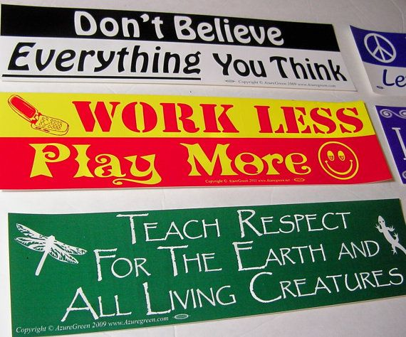 Bumper Sticker Teach Respect For The Earth And All Living Creatures Decal