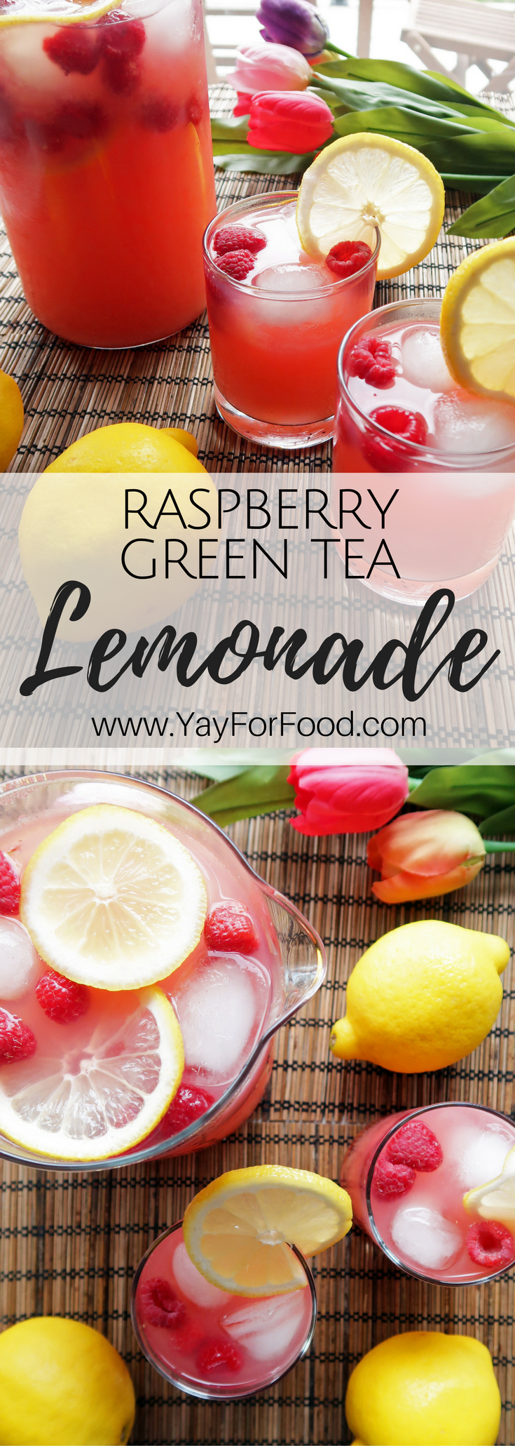 Homemade Raspberry Green Tea Lemonade #nonalcoholicsummerdrinks