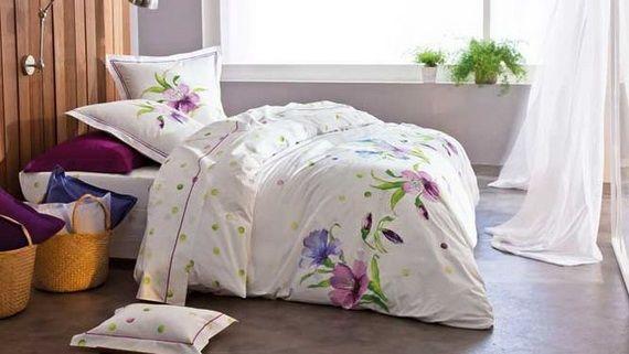 Flower bed linen wwwstylisheve #bedlinen #flower Bed linen - flanell fleece bettwasche kalten winterzeit