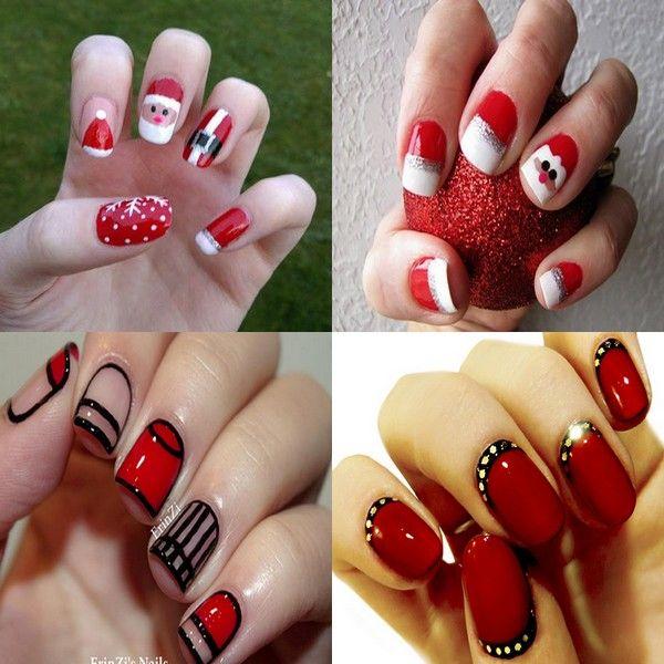 Simple Christmas Nail Design Ideas | Nail Care Tips | Pinterest | Simple christmas  nails - Simple Christmas Nail Design Ideas Nail Care Tips Pinterest