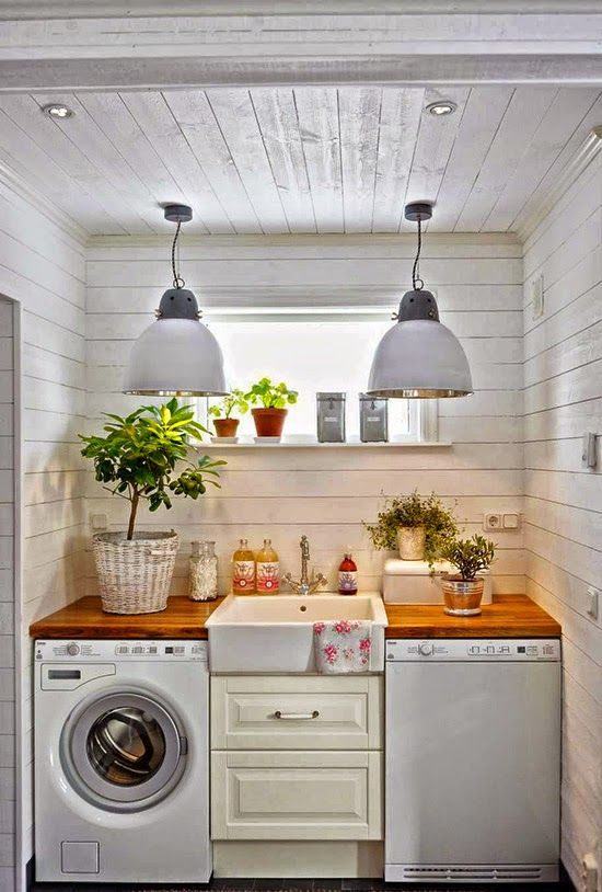 Unfinished Basement Laundry Room Diy