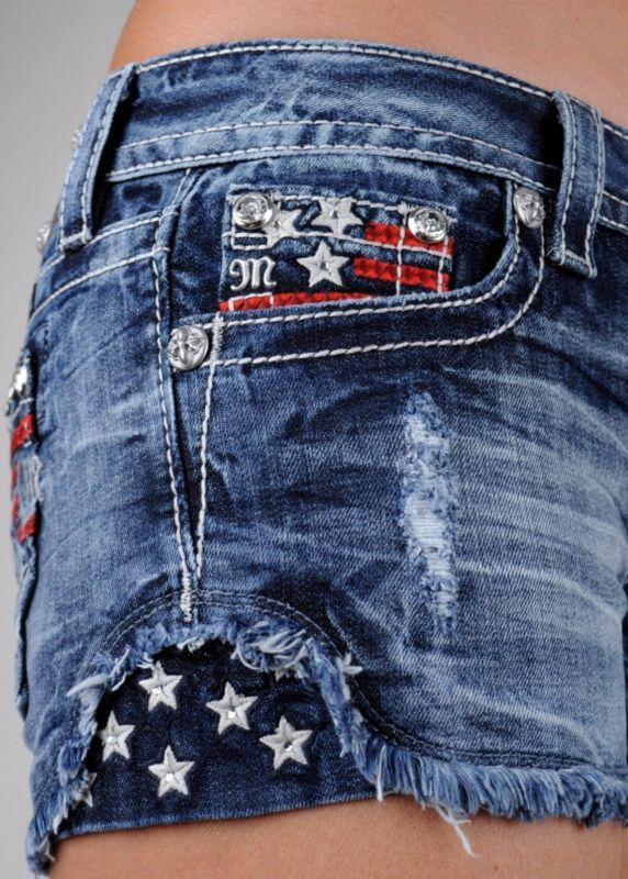 Miss Me Jeans Shorts American Flag Stars And Stripes Americana 25 26 27 28 29 30 Jeans For Short Women Miss Me Jeans Denim Women