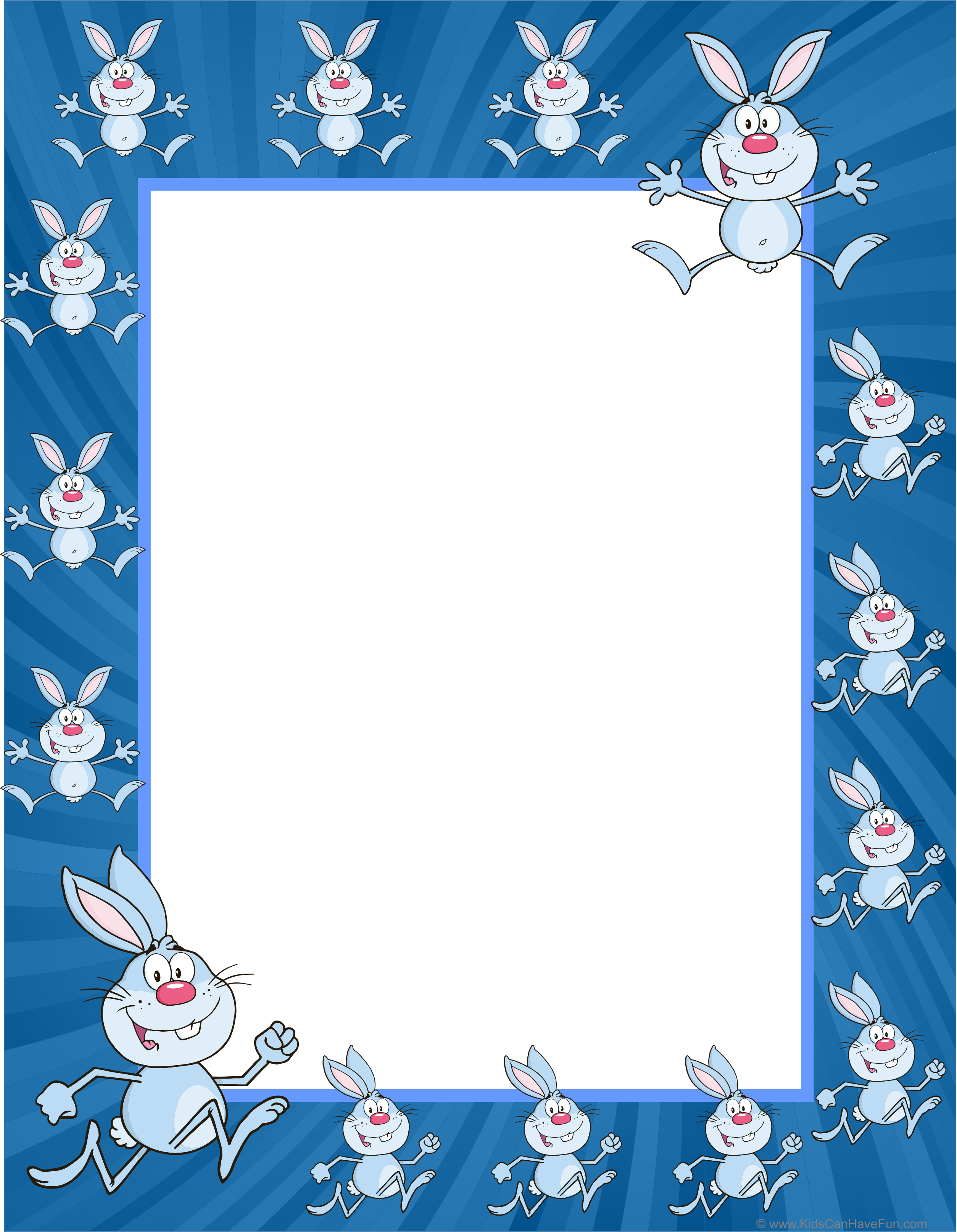 Easter Bunny Writing Paper Dscanhavefun