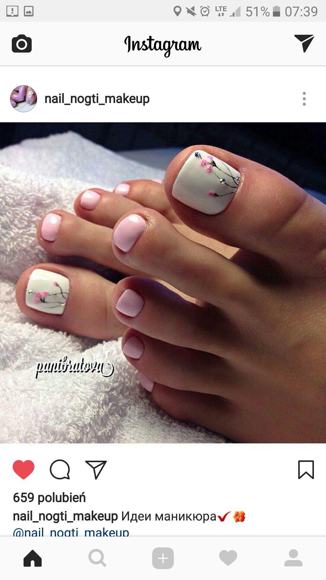 Pin By Magda Jaro On Nails Pedicure Sliczne Paznokcie Ladne
