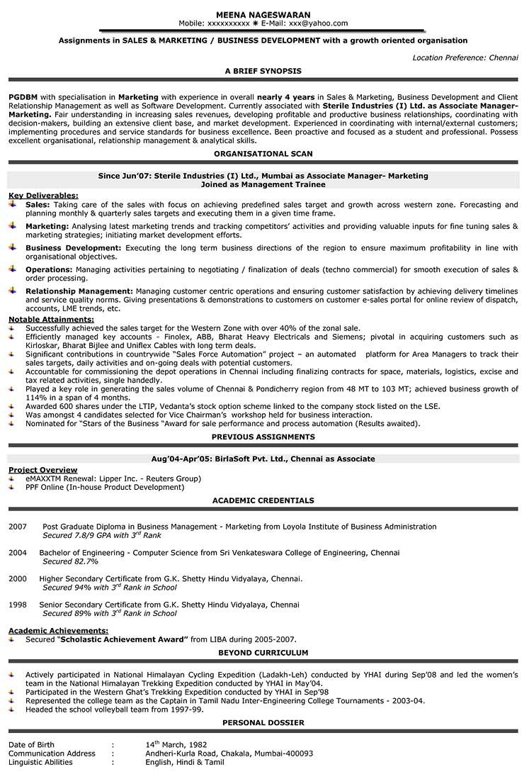 Resume Format For 5 Years Experience In Sales Resume Templates Sales Resume Free Resume Template Word Resume Format