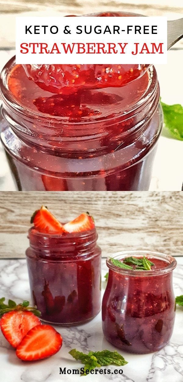 Homemade Strawberry Jam Keto & SugarFree Recipe