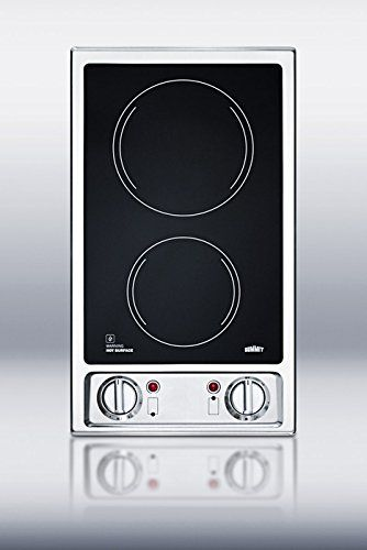 Summit Cr2b120 2 Burner 120v Electric Cooktop With Smooth Black Ceramic Glass Surface Summit Cr2b120 2 Burner 120v Electric Cooktop Cooktop Cooktop Cleaning