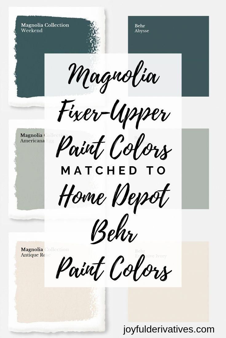 How to Get Fixer Upper Paint Colors from Home Depot - Joyful Derivatives