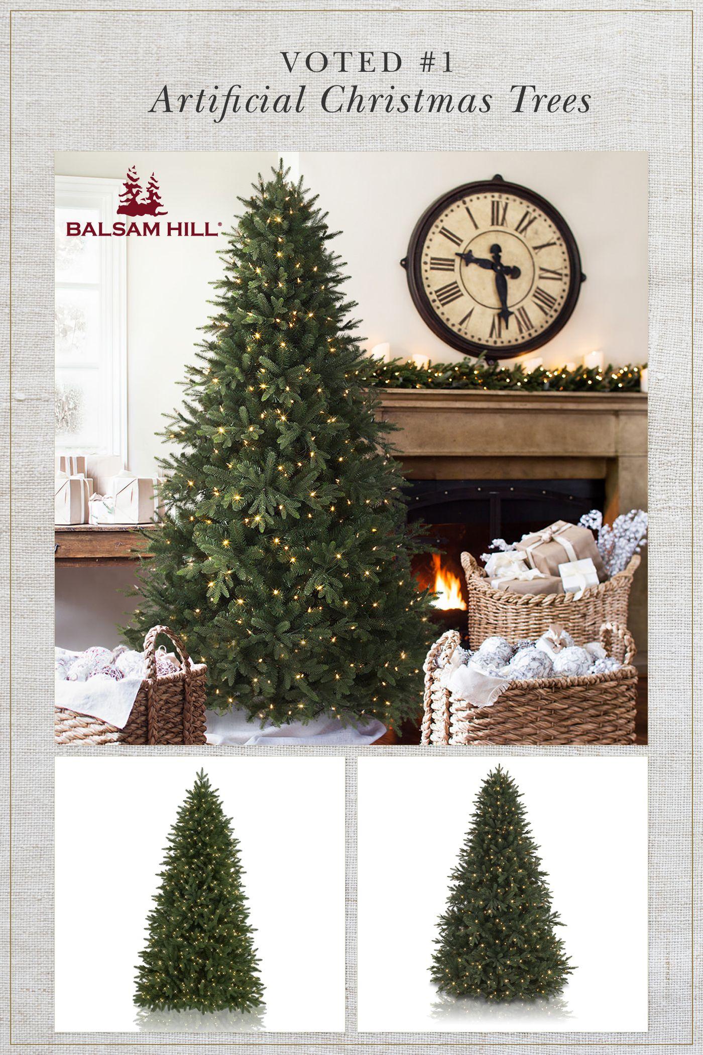 Balsam Hills Saratoga Spruce & Calistoga Fir Artificial Christmas Trees